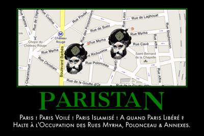 carte postale turban2 contre l'invasion musulmane des rues parisiennes